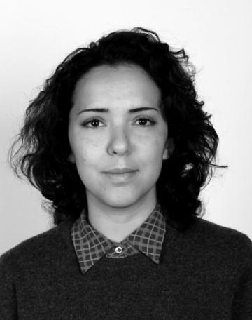 Black and white portrait of Dahlia El Broul.