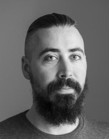 Black and white portrait of Francesco Raccanelli.