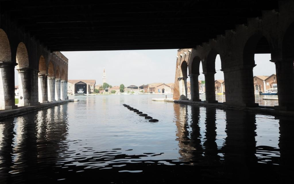 Former shipyard Arsenale is used as an exhibition space.