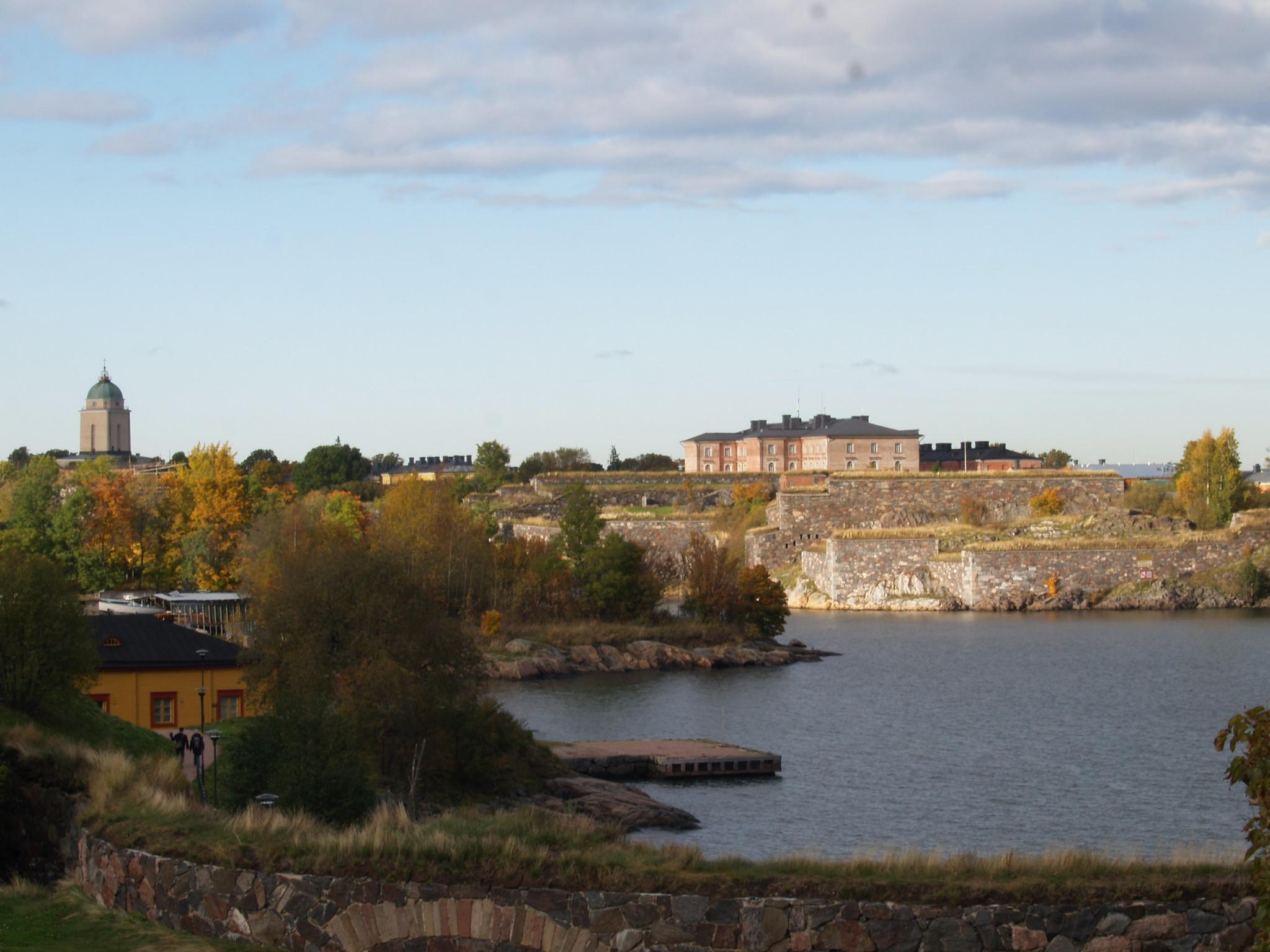 The island fortress of Suomenlinna, as seen from the shore